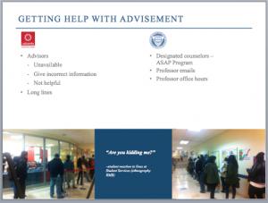 Slide from student Rachael Benavidez's final project