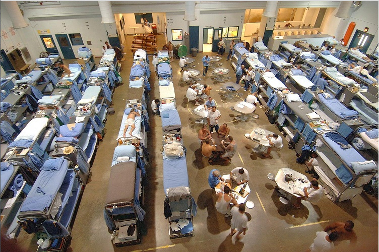 Overcrowded Prison Source: http://en.wikipedia.org/wiki/Prison, Creative Commons Attribution