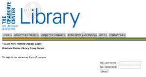 GC Library proxy login