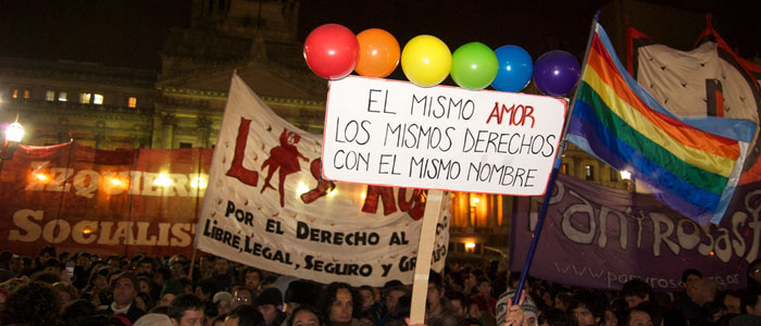 """Los Mismos Derechos"" Gay Rights march, Latin America"