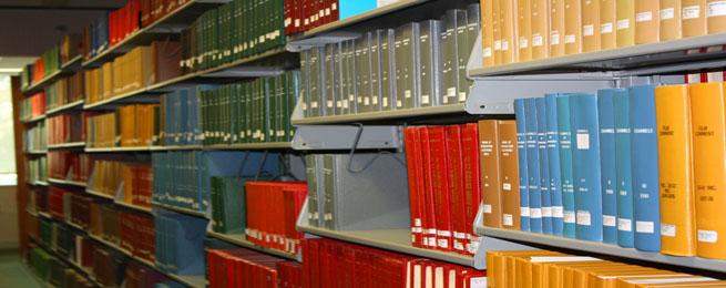 Printed, Bound Journals on Shelf