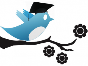 Twitter bird in academic cap